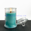 Wholesale Clear Glass Jar With Lid Blue Soy Wax Candle Holder