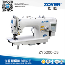 ZY5200-D3 zoyer direct drive auto trimmer high speed lockstitch industrial sewing machine with side cutter