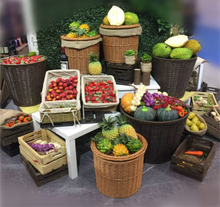 Vegetable and fruit display rack