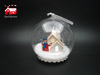 Christmas Decorative Hanging Led Lights Snow Globe with Snowman And Snow Flake Scene