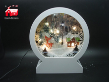 Christmas Decorative Arch Frame Music Box As Led Home Decoration with Artificial Snow Blowing And Christmas Scene