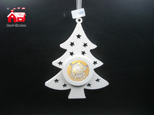 Christmas Decorative Pine Tree Shape Hanging Led Light with Nativity Scene Made by Plastic From Christmas Decoration Supplies