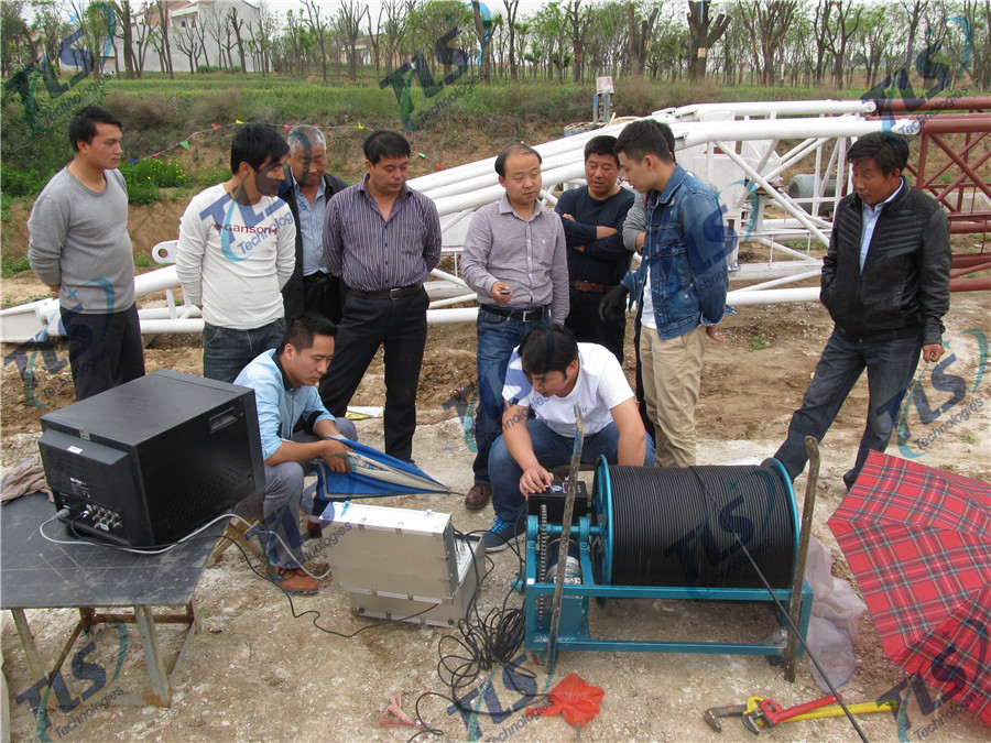 TLS Technologies Borehole Inspection Camera Application Case-Shaanxi 139 hydrological team logging field-05