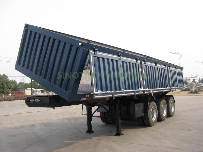 SINOTRUK 3 Axles Side Tipper Semi Trailer