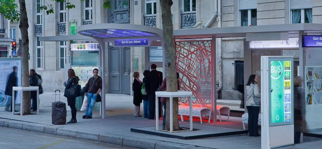 city's map bus stop station