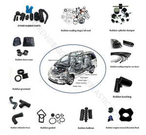 Black Anti-Aging EPDM Rubber Parts for Vehicle Use