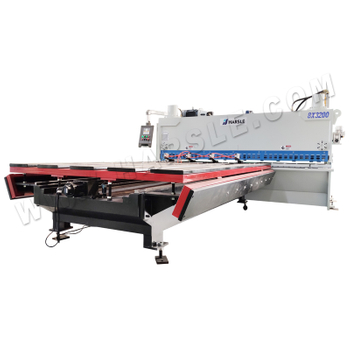 CNC Guillotine Shearing Machine with Auto front feeding table, 8x3200 metal sheet shear ELGO P40