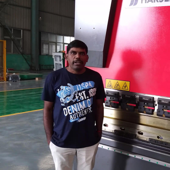 Indian customer feedback for HARSLE CNC press brake