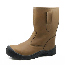 CE Approved Anti Static Non Slip Steel Toe Leather Welding Boots for Welders