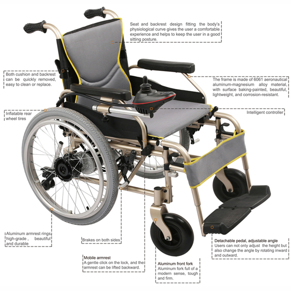 folding lightweight electric wheelchair