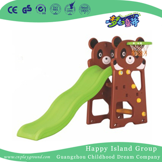 School Children Play Plastic Bear Small Slide With Swing (ML-2014606)