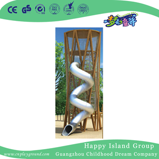 Outdoor Large Wooden Climbing Playground With Stainless Slide (HHK-1801)