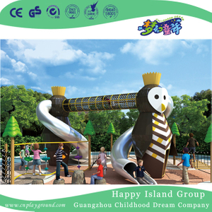 Outdoor Double Owl Slide Combination Animal Playground For Kids Play (HHK-4701)