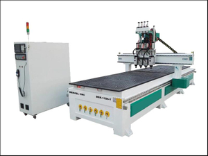 Double worktable 4 process furniture woodworking engraving drilling cnc router