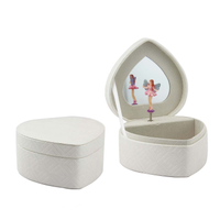 Wholesale pu jewelry music box for girls/lady