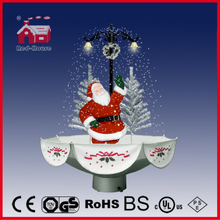 (118030U075-ST3-SS) Snowing Christmas Decorations with Umbrella Base