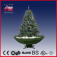 (40110U120-GW) Snowing Christmas Tree with Colorful Ball Ornaments LED Lights