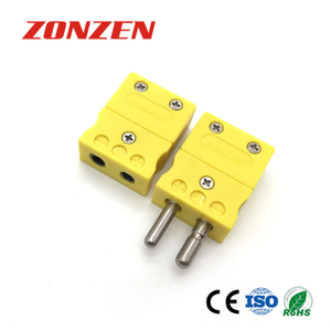 Thermocouple standard connector (ZZ-S01, Solid pins)