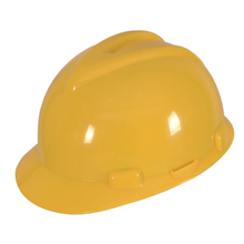 Yellow CE EN397 ABS V Type Construction Site Safety Hard Hat with Ratchet