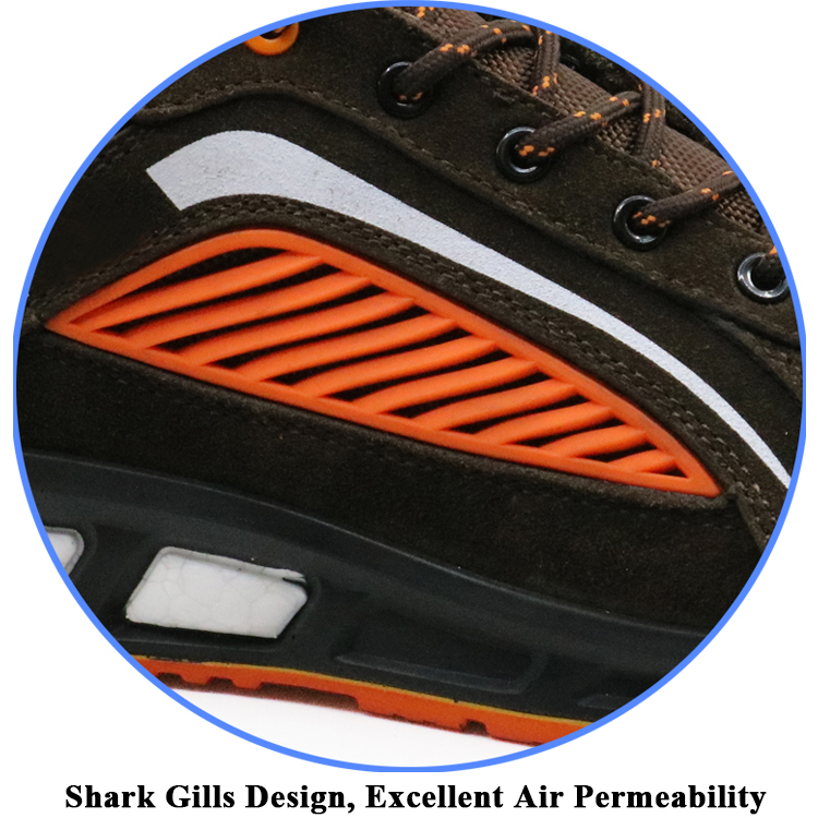 oil slip resistant fiberglass toe kevlar fashionable sport safety shoes