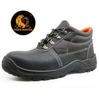 5071 Black oil resistant anti slip steel toe cap safety shoe for men