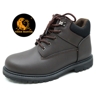 GY008 Leather upper rubber sole steel toe cap goodyear welted safety shoes