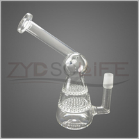Borosilicate Pyrex Smoking Water Pipe With Honeycombs