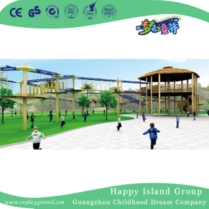 Outdoor Large Wandering Wooden Climbing Playground (HHK-2701)