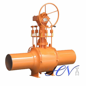 Gear Operated Manual Natural Gas Fully Welded Body Ball Valve