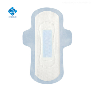 Ultra Thin Soft Hot Air Through Cotton 245mm Sanitary Towel With Blue Core For Periods