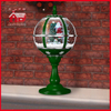 (LT30059B-GS10) Green Color Snowing Tabletop Lamp with Lace Decoration on Top
