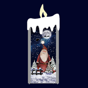 Candle Shaped Snow Musical Christmas Decoration