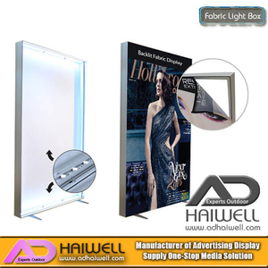 LED Frameless Fabric Light Box | Aluminum Fabric Light Box Frame