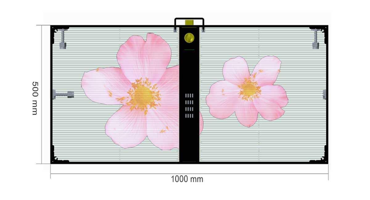TRANSPARENT LED CABINET SPECIFICATIONS