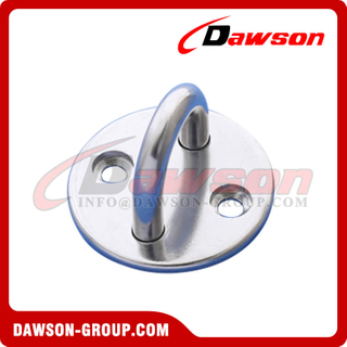 Stainless Steel Round Pad Eye, AISI316 Round Eye Plate