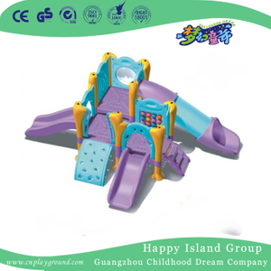 Indoor Kids Play Purple Small Slide Play Equipment (WZY-420)