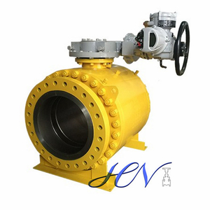 Electric Operated Forged Side Entry Trunnion Ball Valve Double Block Bleed