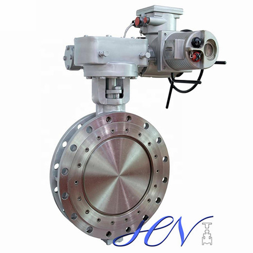 Electric Operated Double Flanged Pressure Drop Triple Eccentric Butterfly Valve