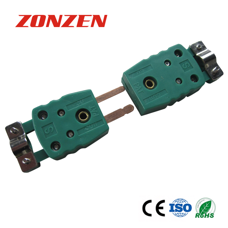 Thermocouple miniature connector with plastic clamp ZZ-M02C