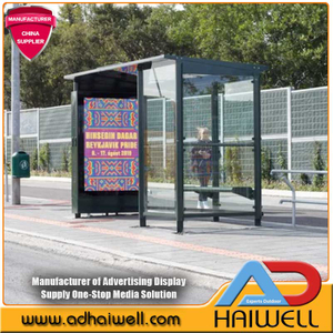 Digitale LED-Bushaltestelle Smart City Displays
