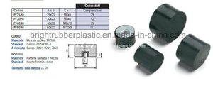 Customized Threaded Rubber Bumper Passed Ts16949
