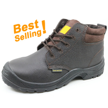 CL001 best-selling brown leather steel toe safety boots for chile
