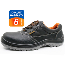 ENS025 Tiger master brand black leather steel toe cap work shoes safety