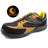 Low ankle oil resistant suede leather composite toe cap shoes work safety