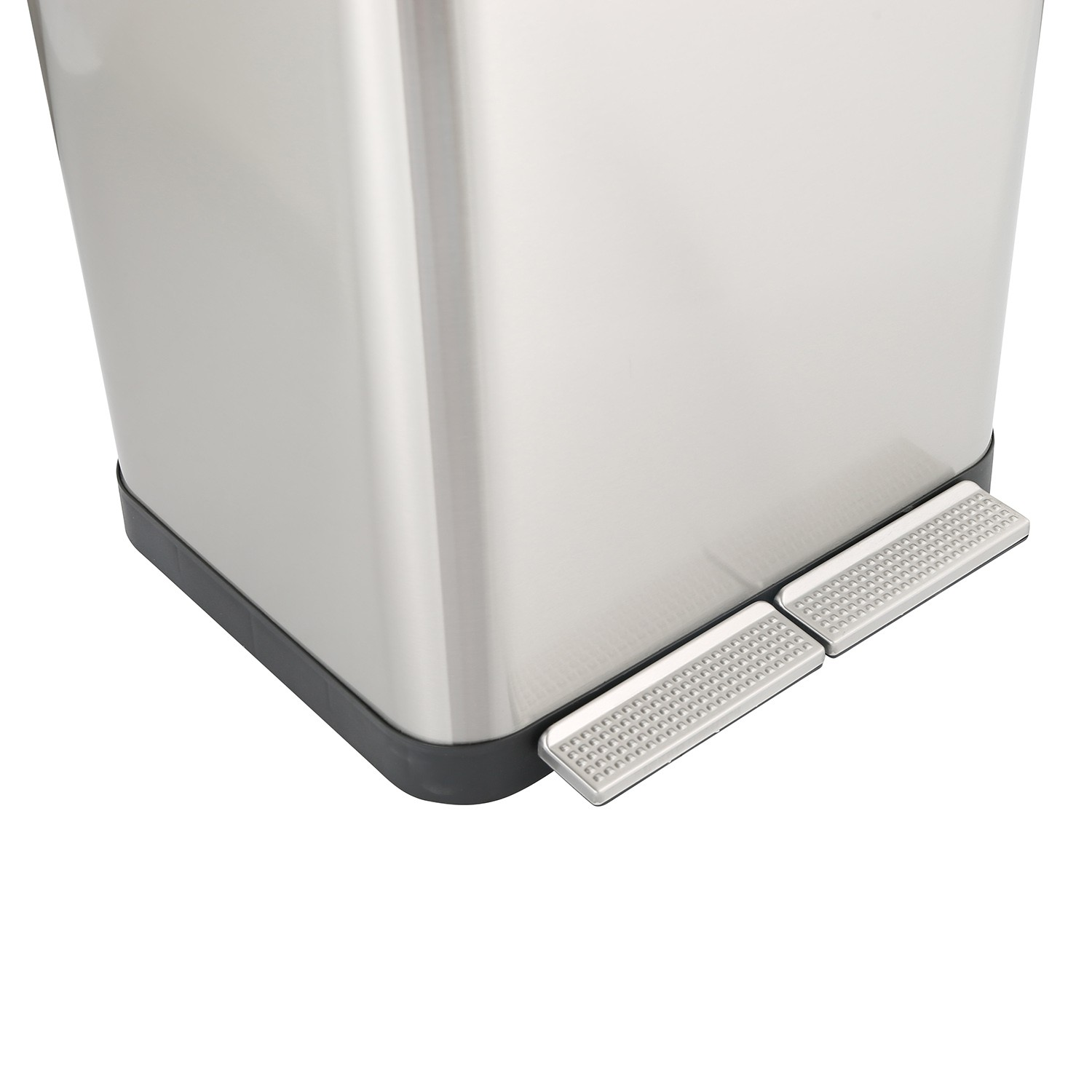 2in1 Rectangle Padel dustbin with 18Liter (KL-8418)