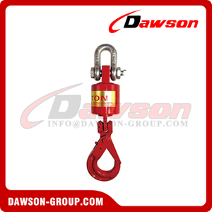 G80 Oilfield Swivel Hook, Grade 80 High Tensile Forged Alloy Steel Oilfield Heavy Duty Swivel Lifting Hook for Lifting Equipment