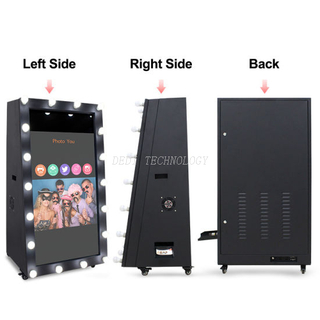 Smart Fashion Outdoor Digital Selfie standing Magic photo mirror booth