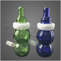 6.7 Inches Blue And Green Smoking Pipe of Glass Bong