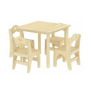 Kindergarten Small Multilayer Board Children Square Table (19A4401)