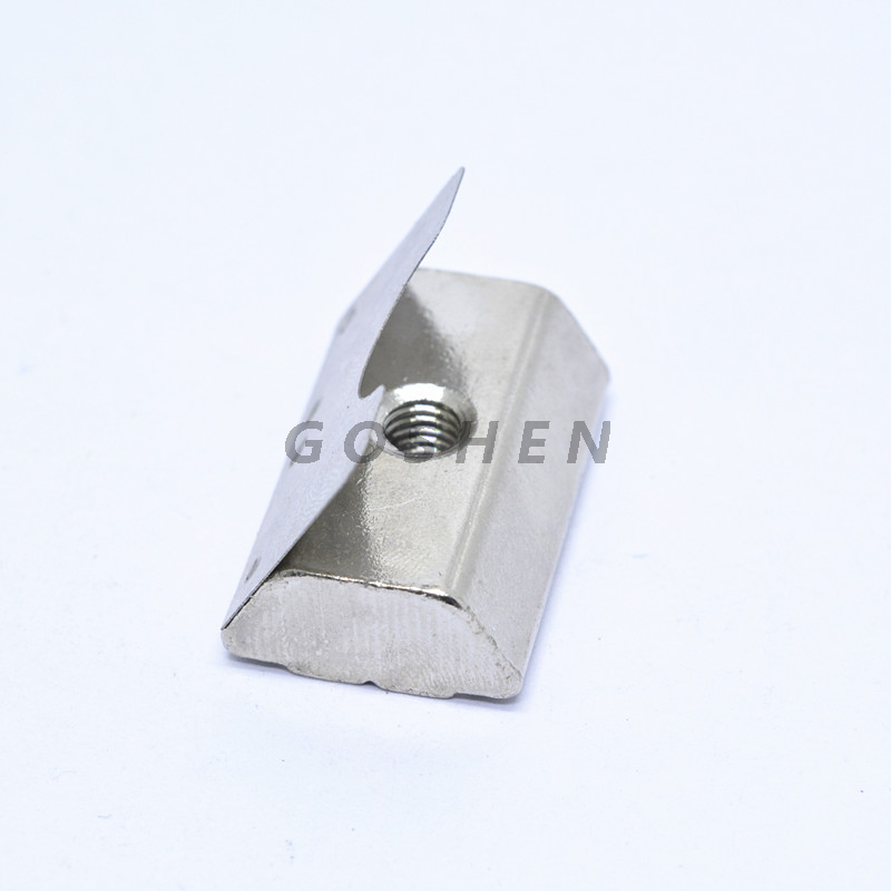 Stainless Steel Spring T Slot Nut With Spring Leaf